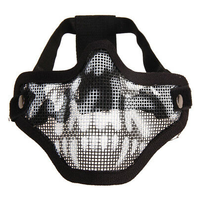 Protective Strike Metal Mesh Metal Mask Half Face Tactical Airsoft Military Mask