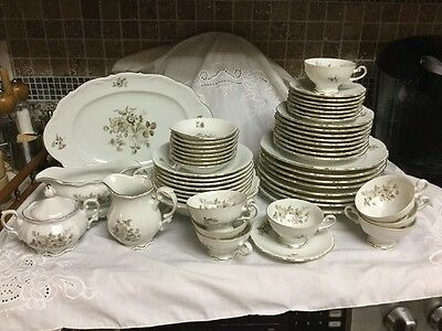 Vintage Mitterteich China Mit17 Bavaria Germany Service For 8 55pieces