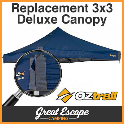 OZtrail Deluxe 3.0 Gazebo REPLACEMENT CANOPY Blue Top Cover Roof 3x3m