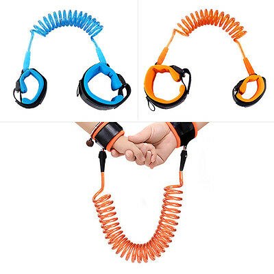 2pcs 1.5M Fashion Baby  Braclete Wristband Elastic Harness Safety Leash Strap