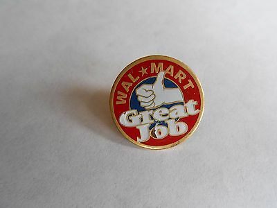 Cool Vintage Walmart Wal-Mart Great Job Advertising Employee Lapel Pin Pinback