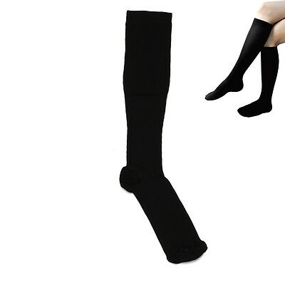 Unisex Black Miracle Stocking Swelling Relief Anti-Fatigue Compression Socks