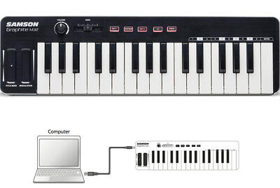 Samson M32 Portable 32 Semi Weighted Key Keyboard Mini USB MIDI Controller
