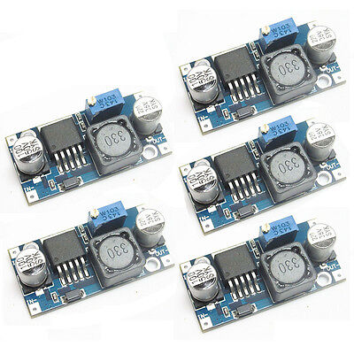 5pcs LM2596 DC-DC Buck Converter Step Down Module Power Supply Output New Top