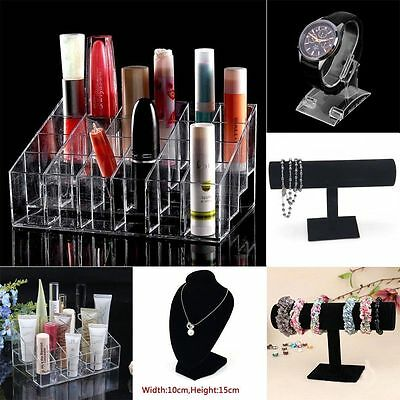 Clear 24 Makeup Cosmetic Lipstick Storage Display Stand Rack Holder Organizer Lo
