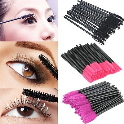 100 Pcs Disposable Eyelash Brush Mascara Wands Applicator Spoolers Makeup Toplo