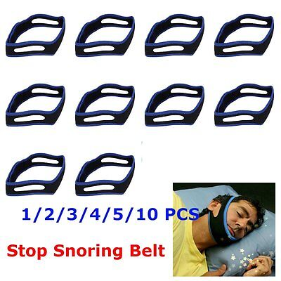 10X Stop Snoring Chin Strap Snore Belt Anti Apnea Jaw Solution Sleep Tmj Suppolo