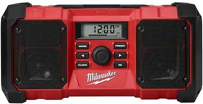 Milwaukee M18 Jobsite Radio Dual Speakers Portable Stackable 2.1 amp USB Charger