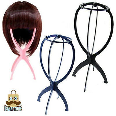 New Folding Plastic Stable Durable Wig Hair Hat Cap Holder Stand Display Tool Bh