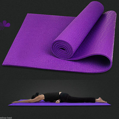 "Yoga Mat 6Mm Thick 68""x24"" Durable Nonslip Pad Exercise Fitness Blanket Lo"