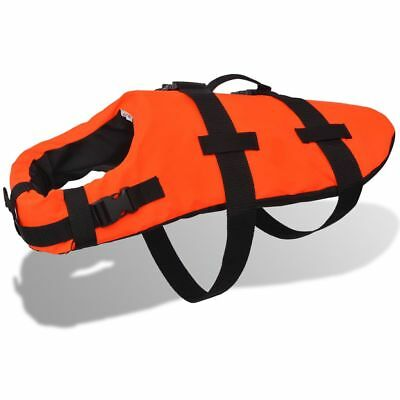 Dog Rescue Vest Swimming Float Jacket Life Preserver w/ Handle Bar S/M/L Orange