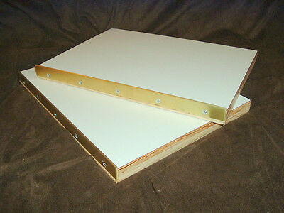 Brass edged press book boards for bookbinding pressboards binding repair....2613