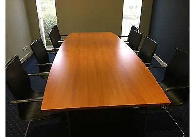Table and 8 chairs: office/boardroom