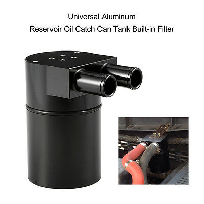 Car Black Aluminum Alloy Reservior Oil Catch Can Tank For BMW N54 335 535i 535xi