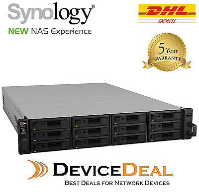 Synology RackStation RS18017xs+ 12 Bay Diskless NAS - Xeon D-1531 6 Core CPU 16G