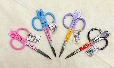 Embroidery Scissors 10cm/4in Snips Cat Snips straight blade Left or Right handed
