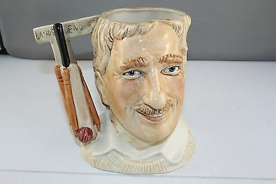 Kevin Francis Hard to Find Cricketer Ian Botham Character Toby Jug  110/1000