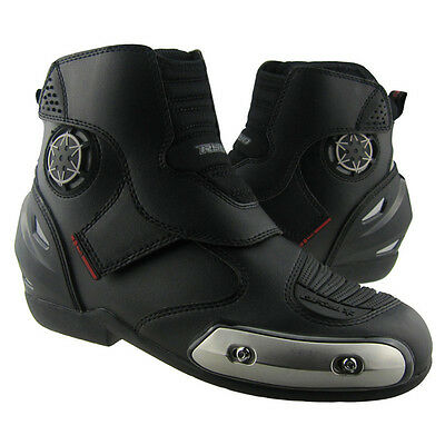 Sports Waterproof Motorcycle Racing Offroad Leather Shoes Black Boots Motorbike