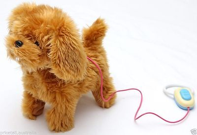 New Brown Doggy Remote Control Walking Puppy Dog Kids Girls Boys Toys Xmas Gift