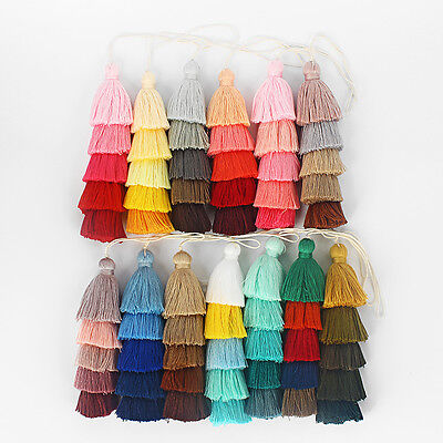 1 x Handmade Cotton Tassels for Cothes Bags Craft Jewellery Making 13.5cm Long