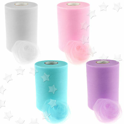 """6"""" 100 Yards Tulle Roll Spool Tutu Dress Fabric Craft Wedding Party Home Gift"""