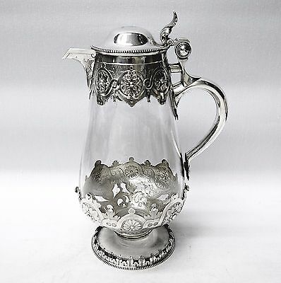 Antique Silver Claret Jug Made by GEORGE FOX, London 1885. Stock ID 8909