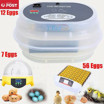 Egg Incubator Digital Turning 7/12/56 Chicken Quail Poultry Bird Tool