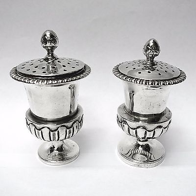 Chinese Silver Peppers Made by KHE CHEONG OF CANTON Circa 1835. Stock ID 8900