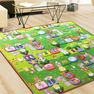 2Mx1.8M XXL Nontoxic Baby Kids Play Mat Floor Rug Picnic Cushion Crawling Mat