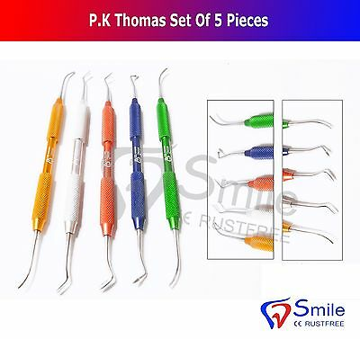 P.K Thomas Set Of 5,Dental Wax Instruments,German,UK Stock,Colored,Cheap,CE NEW