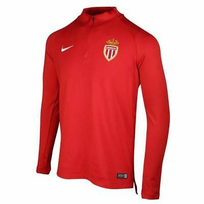 Nike AS Monaco Training Squad Drill Top 2017/18  - Red - Mens
