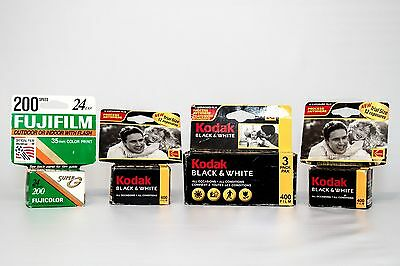 Original Kodak Black White Fuji Color Expired Camera film Print Negative
