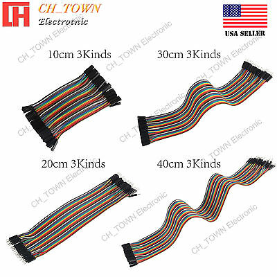 40pcs Dupont Wire 10 20 30 40CM Breadboard Jumper Wires Ribbon Cable For Arduino