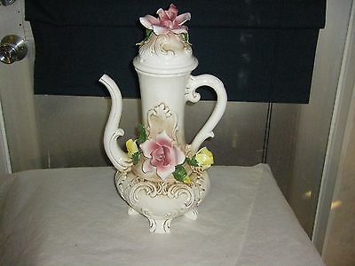 """Capodimonte Large Pitcher App: 16 1/2"""" Tall   Made in Italy"""