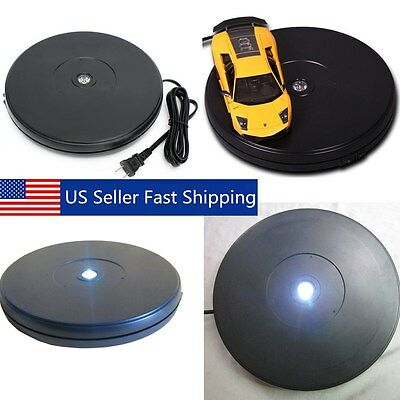 """10KG 10"""" 3D Heavy Duty Rotating Display Stand Electronic Turntable Holder 110V"""