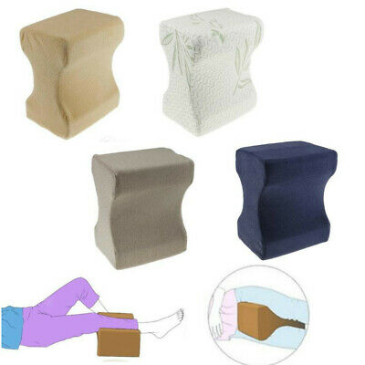 Memory Foam Knee Leg Pillow Bed Cushion Pressure Relief Sleep Support with Cover