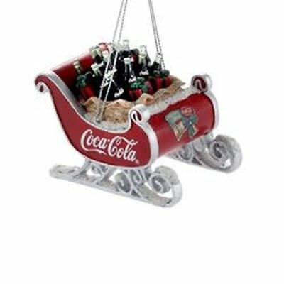 New Kurt Adler Resin Coca-Cola Sleigh Ornament