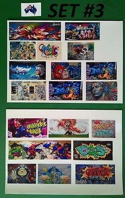 19 Graffiti Decals in high quality Self Adhesive Film for model train setting