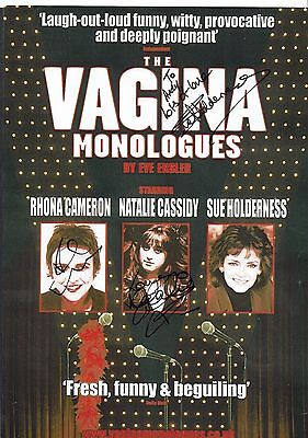 Rhona Cameron Sue Holderness Natalie Cassidy Actors Signed Theatre Flyer 12 x 9