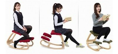 New Teal Wooden Ergonomic Kneeling Posture Home Office Kneeling Chair Toy spa