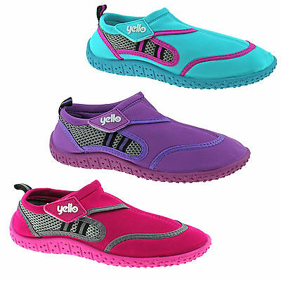 FW922 Kids Yello Wetsuit Childens Water Shoes- Beach Aqua River & Pool UK 10- 2