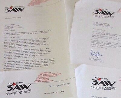 Four Letters from Radio Station 1278 3AW - 'Talking Melbourne' - 1970s & 1980s