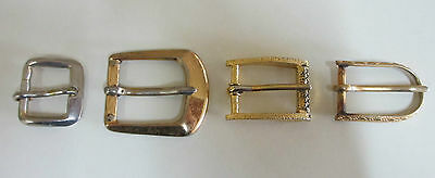 Four Vintage Belt Buckles - Silver and Gold Tone