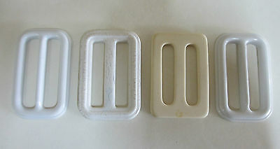 Four Vintage Belt Buckles - White and Cream