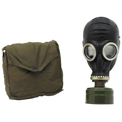 Russian Gp5 Black Gas Mask Bag New Un-Issued Surplus Rubber Soviet Army