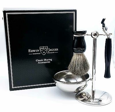 Edwin Jagger Rasur-Geschenk-Set Classic Shaving Accessories (4-2499)