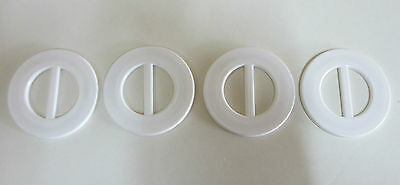 Four Vintage Belt Buckles - White