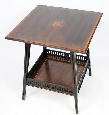Antique Edwardian Inlaid Marquetry Mahogany Side Table - FREE Shipping [PL2210]