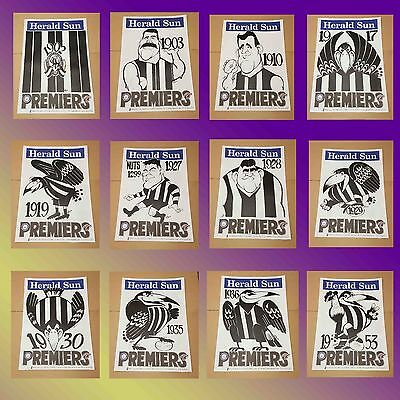 1902 - 1953 Collingwood Premiership Weg Poster Set Or Single Limited Edition