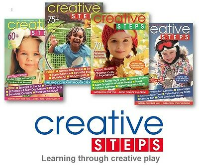Creative Steps - a whole year's ideas! 4 x mags: Spring, Summer, Autumn & Winter